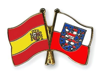 Crossed Flag Pins Spain-Thuringia