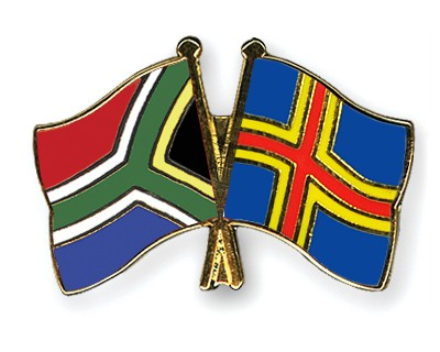 Crossed Flag Pins South-Africa-Aland