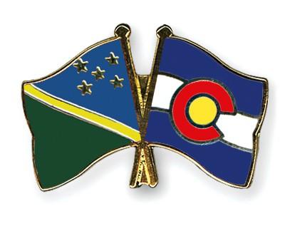 Crossed Flag Pins Solomon-Islands-Colorado