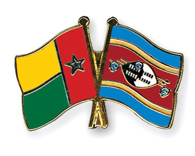 Crossed Flag Pins Guinea-Bissau-Swaziland