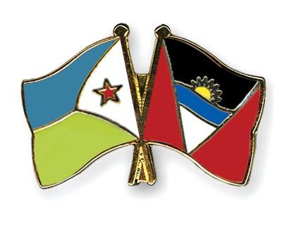 Crossed Flag Pins Djibouti-Antigua-and-Barbuda