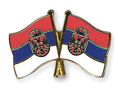 Crossed Flag Pins Serbia-without-Crest-Serbia-without-Crest