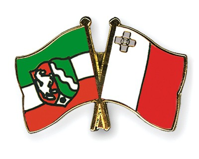 Crossed Flag Pins North-Rhine-Westphalia-Malta