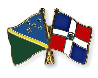 Crossed Flag Pins Solomon-Islands-Dominican-Republic