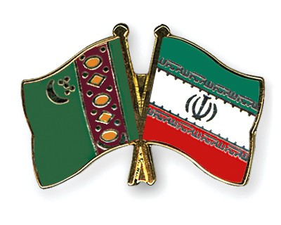 Crossed Flag Pins Turkmenistan-Iran