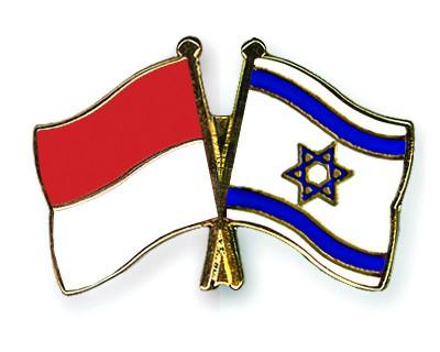 Crossed Flag Pins Indonesia-Israel