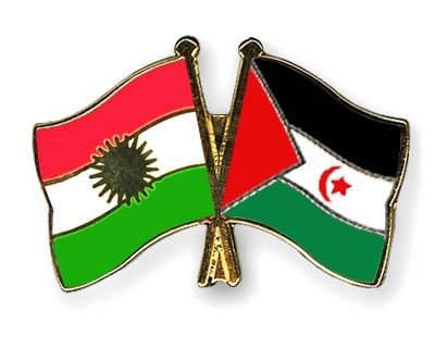 Crossed Flag Pins Kurdistan-Western-Sahara