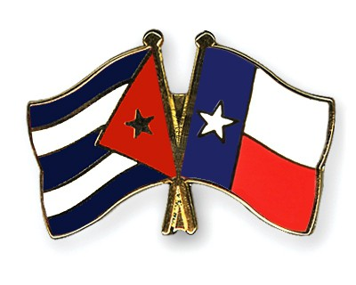 Special Offer Crossed Flag Pins Cuba-Texas