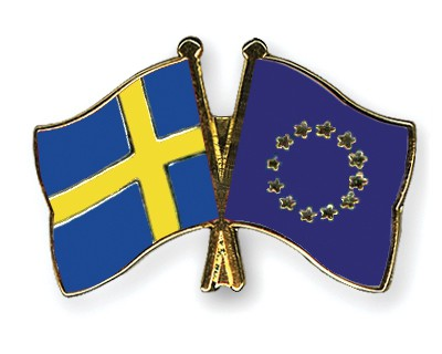 Special Offer Crossed Flag Pins Sweden-European-Union