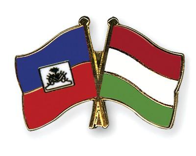 Crossed Flag Pins Haiti-Hungary