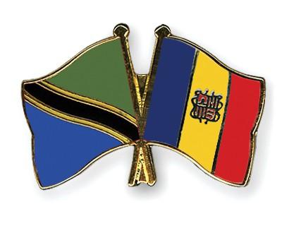 Crossed Flag Pins Tanzania-Andorra