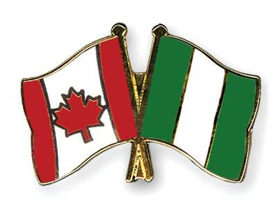 Crossed Flag Pins Canada-Nigeria
