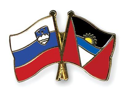 Crossed Flag Pins Slovenia-Antigua-and-Barbuda