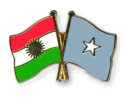 Crossed Flag Pins Kurdistan-Somalia