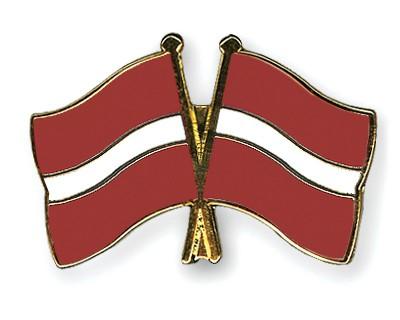Crossed Flag Pins Latvia-Latvia