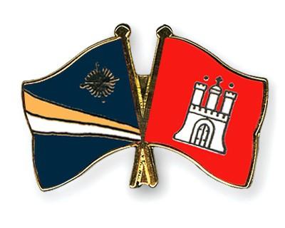 Crossed Flag Pins Marshall-Islands-Hamburg
