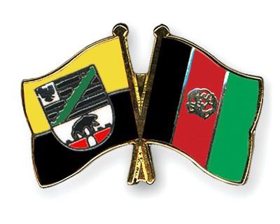 Crossed Flag Pins Saxony-Anhalt-Afghanistan