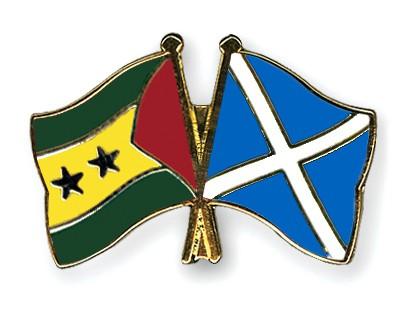 Crossed Flag Pins Sao-Tome-and-Principe-Scotland