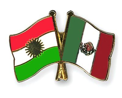 Crossed Flag Pins Kurdistan-Mexico