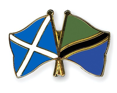 Special Offer Crossed Flag Pins Scotland-Tanzania