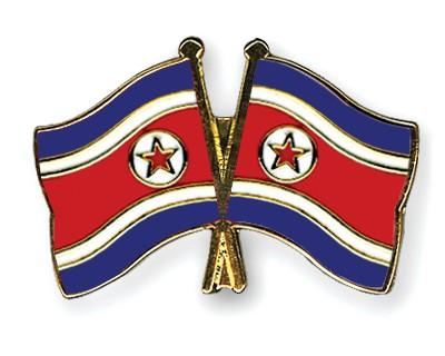 Crossed Flag Pins North-Korea-North-Korea