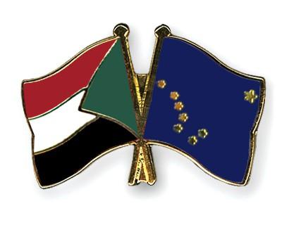 Crossed Flag Pins Sudan-Alaska