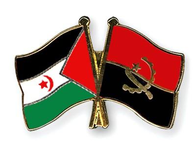 Crossed Flag Pins Western-Sahara-Angola