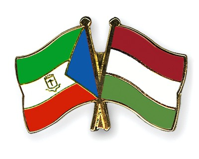 Crossed Flag Pins Equatorial-Guinea-Hungary