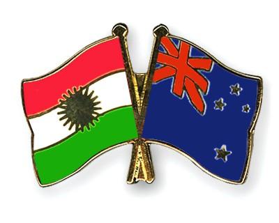 Crossed Flag Pins Kurdistan-New-Zealand