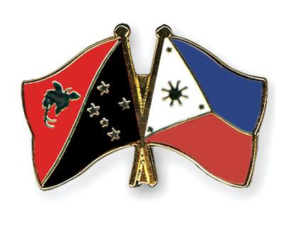 Crossed Flag Pins Papua-New-Guinea-Philippines