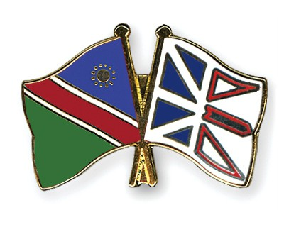 Crossed Flag Pins Namibia-Newfoundland-and-Labrador
