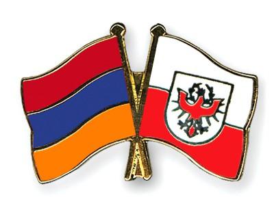Crossed Flag Pins Armenia-Tyrol