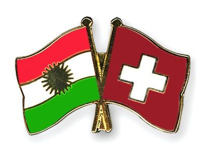 Crossed Flag Pins Kurdistan-Switzerland