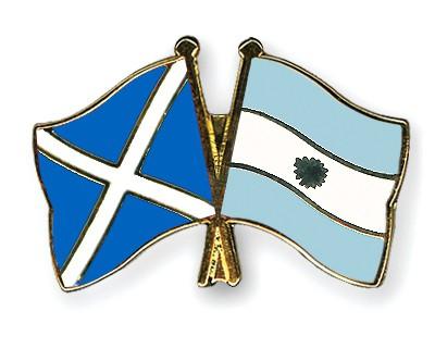 Crossed Flag Pins Scotland-Argentina