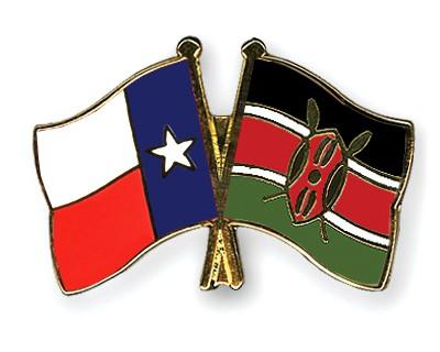Crossed Flag Pins Texas-Kenya