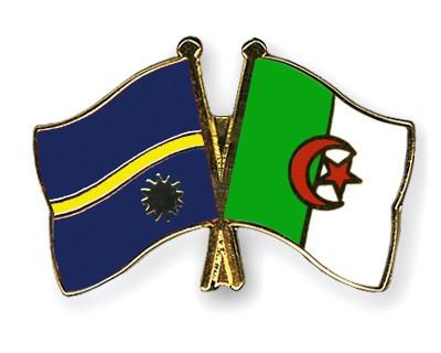 Crossed Flag Pins Nauru-Algeria