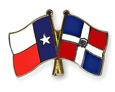 Crossed Flag Pins Texas-Dominican-Republic