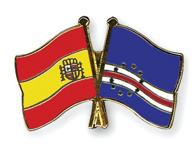 Crossed Flag Pins Spain-Cape-Verde