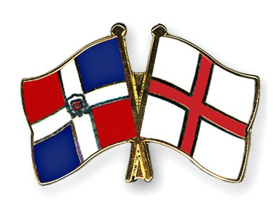 Crossed Flag Pins Dominican-Republic-England