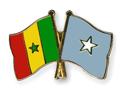 Crossed Flag Pins Senegal-Somalia