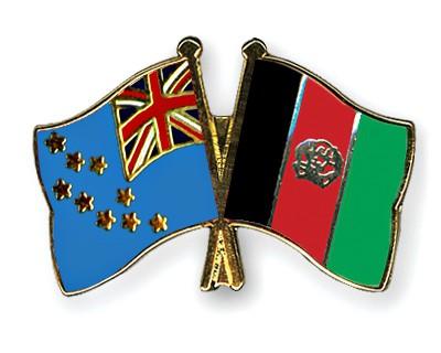 Crossed Flag Pins Tuvalu-Afghanistan