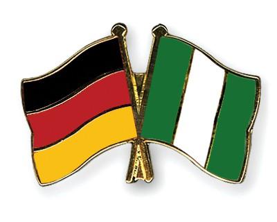 Crossed Flag Pins Germany-Nigeria