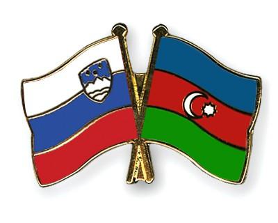 Crossed Flag Pins Slovenia-Azerbaijan