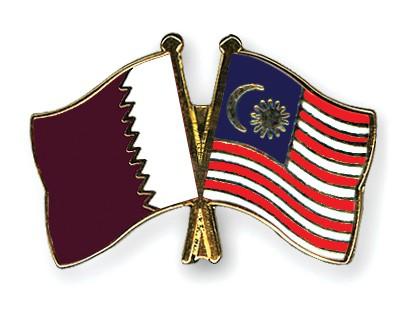 Special Offer Crossed Flag Pins Qatar-Malaysia