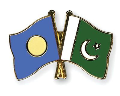 Crossed Flag Pins Palau-Pakistan