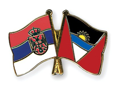 Crossed Flag Pins Serbia-without-Crest-Antigua-and-Barbuda