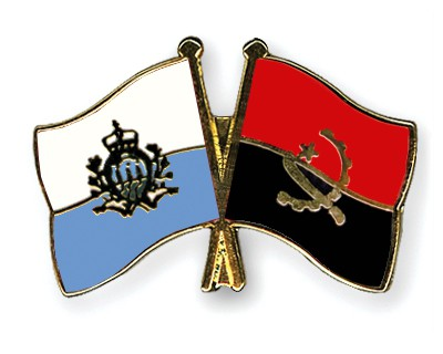 Crossed Flag Pins San-Marino-Angola