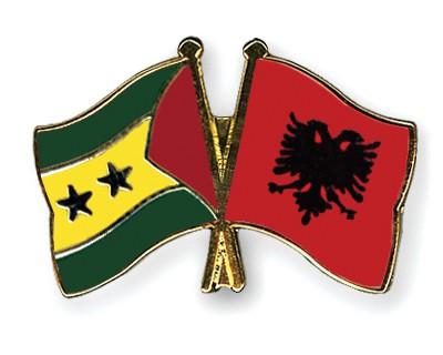 Crossed Flag Pins Sao-Tome-and-Principe-Albania