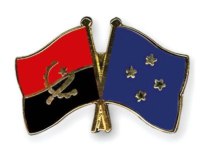 Crossed Flag Pins Angola-Micronesia