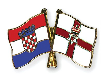 Crossed Flag Pins Croatia-Northern-Ireland